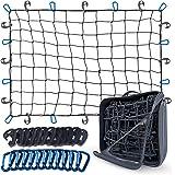 Rede de carga super resistente de 7,62 x 10,16 cm, a rede elástica estica até 1,82 m x 20,32 m para prateleira de carga de te