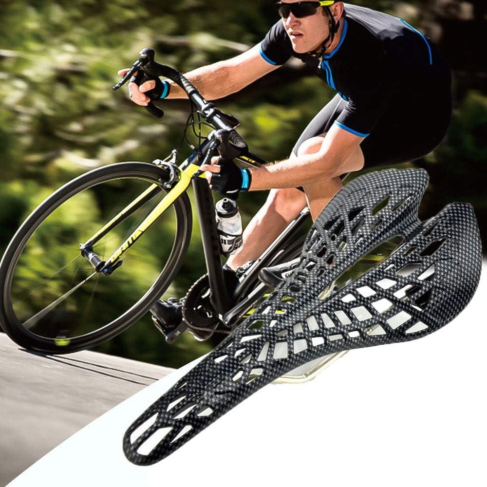 1PC Bike Saddle,Road MTB Carbon Fiber Breathable Spider Soft Hollow Carbon Fiber Bicycle Accessories Saddle Seat,Most Comfortable Bike Seat for Men