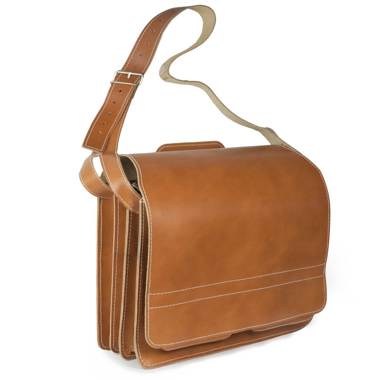 Große Aktentasche/Lehrertasche Größe XL aus Büffel-Leder, für Damen und Herren, Creme-Beige, Jahn-Tasche 676 für Damen und Herren ja-676