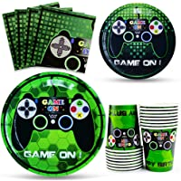 WERNNSAI Video Game Party Tableware Set - Gaming Party Supplies for Boys Birthday Baby Shower Disposable Paper Luncheon…