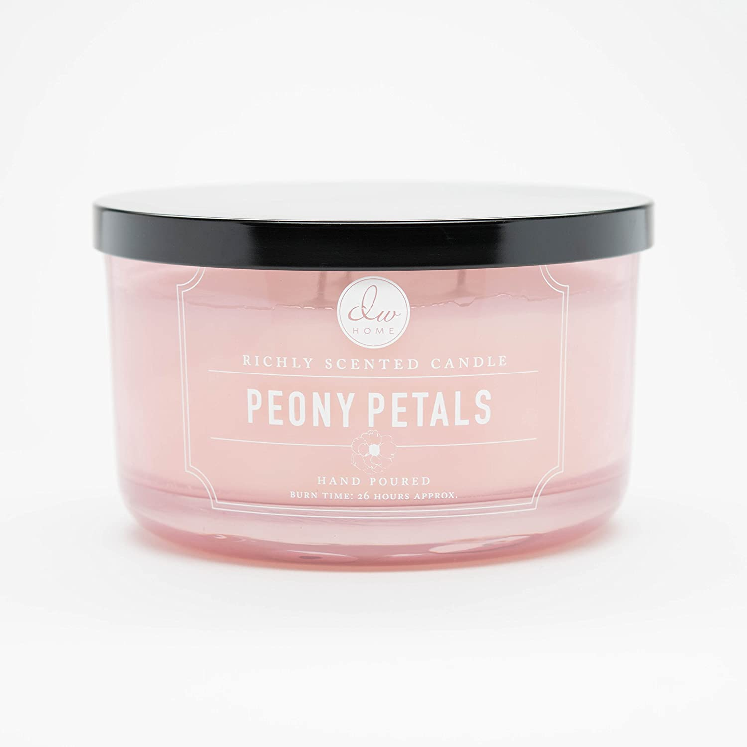 DW Home Large Triple Wick Candle, Peony Petals