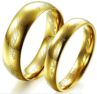 fashion ring the lord of the rings couple jewelry stainless steel wedding ring 320 m10 - Wedding Rings For Couples