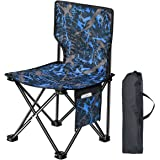 FORSONT アウトドアチェア 折りたたみチェア 耐荷重150kg 軽量 携帯便利 サイドポッケト付き キャンプ用品(ブルー)