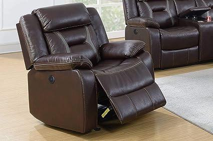 Incredible Amazon Com 3Pcs Modern Dark Brown Gel Leatherette Power Spiritservingveterans Wood Chair Design Ideas Spiritservingveteransorg