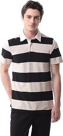 T-07 Hombre Polo de Rayas Manga Corta Camisa Sport Tennis Golf(XL, 29): Amazon.es: Ropa y accesorios