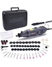 Tacklife Rotary Tool RTD34AC 135W Multi Functional/Combitool with 60Accessories Kit, Variable Speed Control, Ideal Tool for DIY Creations, Craft Projects, Cutting, Drilling, Engraving, Polishing