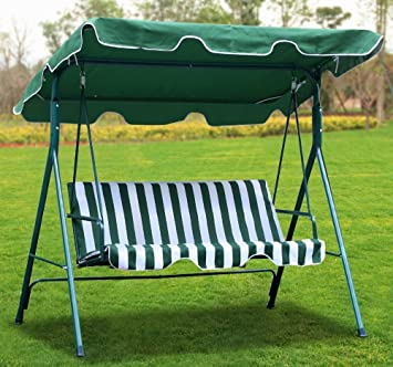 Yaheetech Green Patio Outdoor Swing Canopy with Weather Resistant Seat (3 Seats) & Amazon.com : Yaheetech Green Patio Outdoor Swing Canopy with ...