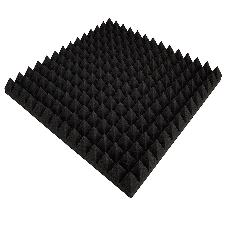 Pyramiden Noppenschaumstoff,Akustik Schaumstoff Pyramiden Akustik D/ämmung 49 x 49 x 4 cm, Anthrazit//Schwarz Akustikschaumstoff