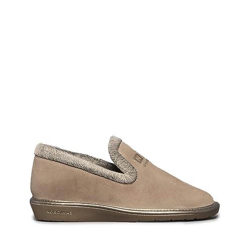 Nordikas - Zapatillas de Estar por casa para Mujer Marrón marrón, Color Marrón, Talla 37 EU: Amazon.es: Zapatos y complementos