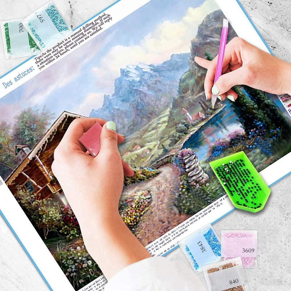 Back Girl DIY 5D Diamond Painting Kits for Adults Full Drill Embroidery Paintings Rhinestone Pasted DIY Painting Cross Stitch Arts Crafts for Home Wall Decor 30x40cm//11.8/×15.7Inches