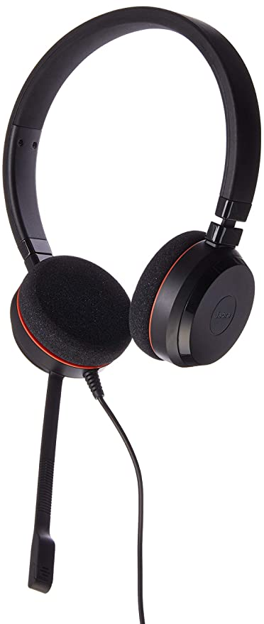 b47e73d4957 Amazon.com: Jabra Evolve 20 MS Stereo Wired Headset/Music Headphones:  Electronics
