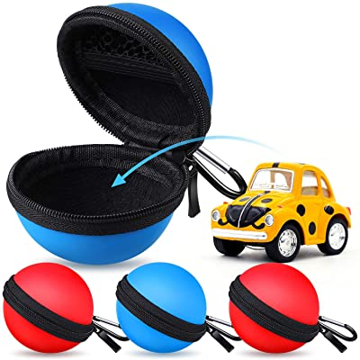 Gejoy 4 Pieces Robot Carry Case Storage Ball Shaped Robot Carry Case Fits for Novie Interactive Smart Robot, Includes Case Only: Toys & Games