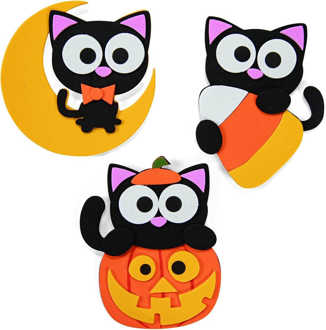 Fun Express Halloween Cat Magnet Craft Kit Makes 12