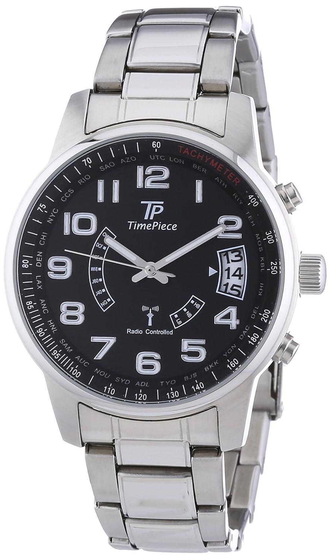 Time Piece Herren-Armbanduhr XL Funk Analog Quarz Edelstahl TPGS-10290-22M