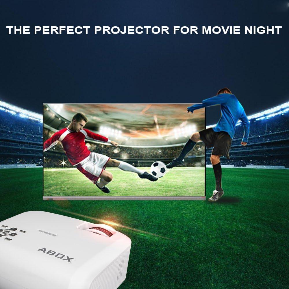 Proyector mini de LED, Abox T22, 2400 lúmenes, compatible con ...