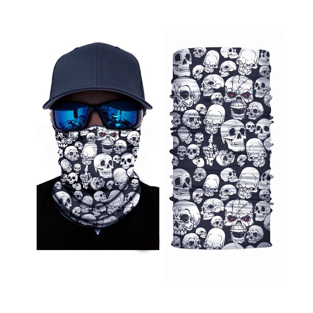 Naisicatar Schal, Totenschädel-Design, für Radfahrer, Maske für Gesicht, Mehrfarbig Totenschädel-Design für Radfahrer Maske für Gesicht