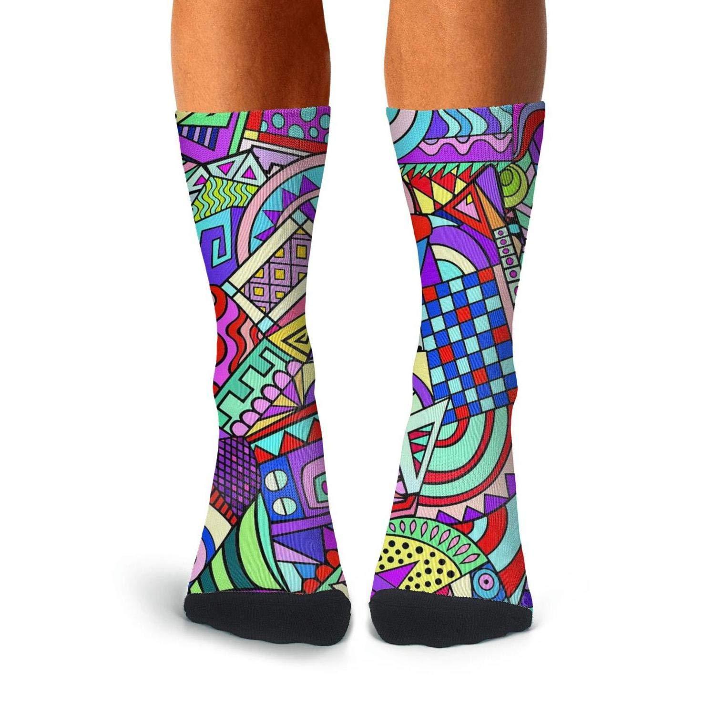 Knee High Long Stockings KCOSSH Colorful Funky Art Novelty Calf Socks Casual Crew Sock For Mens