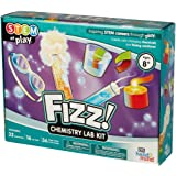 FIZZ! Chemistry Science Kit, 32 STEM Activities, Make Your Own Foam, Crystals, and Magic Tricks
