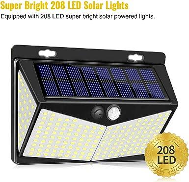 100 LED Solarbetriebene PIR Flutlicht Lampe Bewegungssensor R0B8