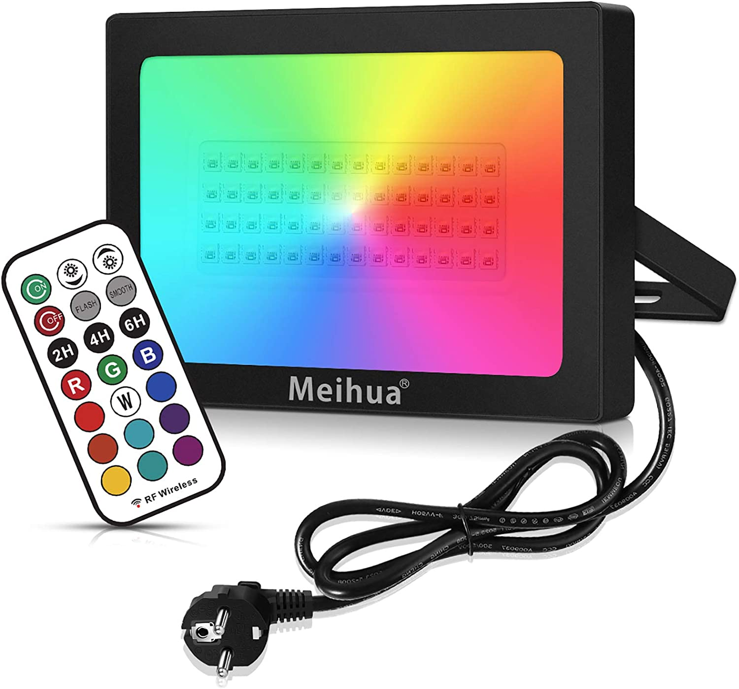 Rgb Spotlight With Remote Control Meihua Beleuchtung