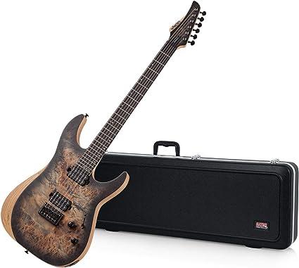 Schecter Reaper 6 Charcoal Burst SCB 1500 guitarra eléctrica con estuche y polaco Clo: Amazon.es: Instrumentos musicales