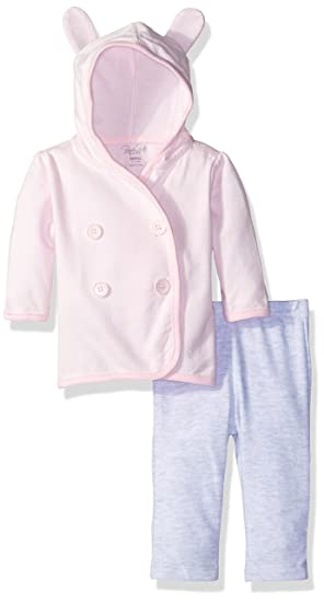f141df98c018 Amazon.com  Rene Rofe Baby Girls  2 Piece Hooded Cardigan Set with ...