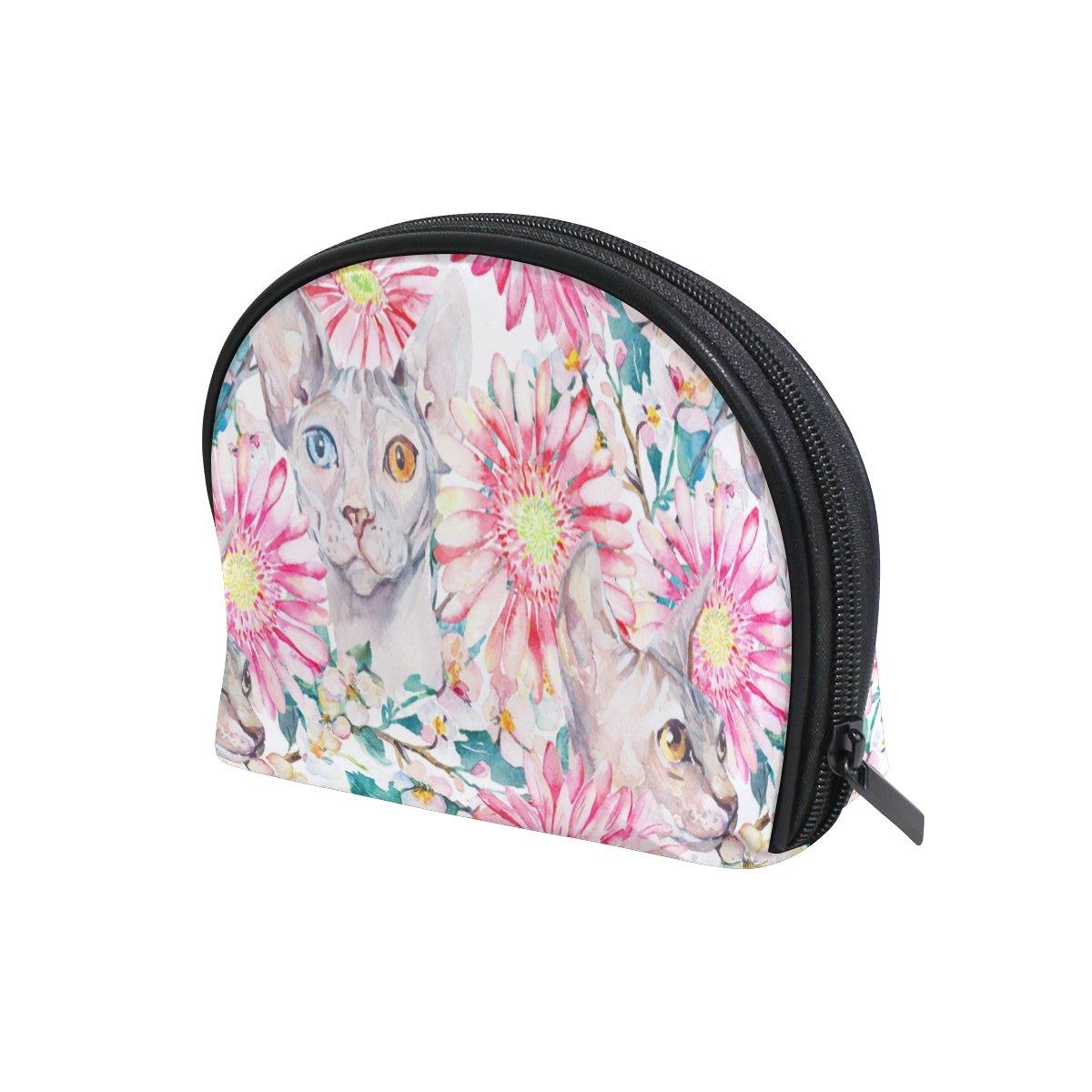 COOSUN - Bolsa de cosméticos para gatos egipcios, bolsa de maquillaje, organizador de viaje, bolsa de aseo para mujer: Amazon.es: Belleza