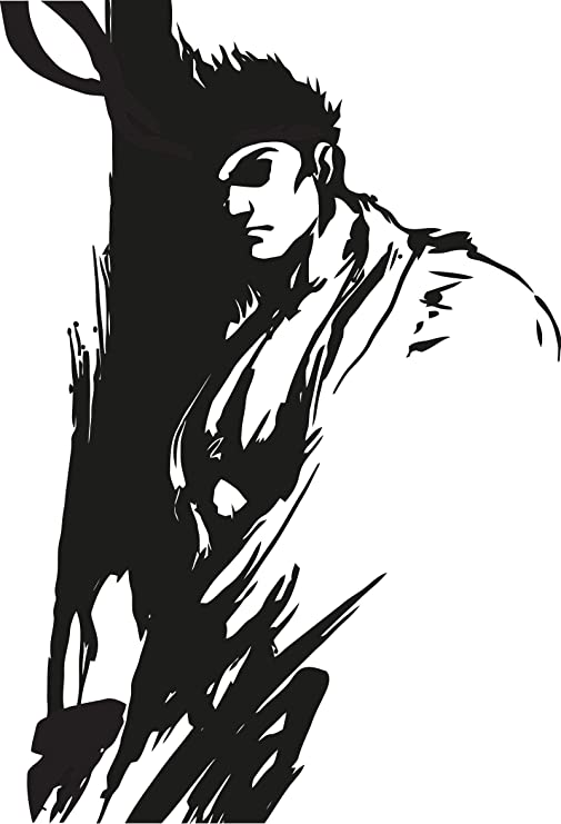 Amazon Com Ryu Street Fighter Wall Decal Anime Mural Arts Sticker