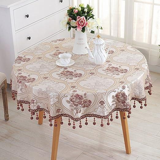 Paño de la mesa redonda europea mantel redonda sala mesa de centro ...