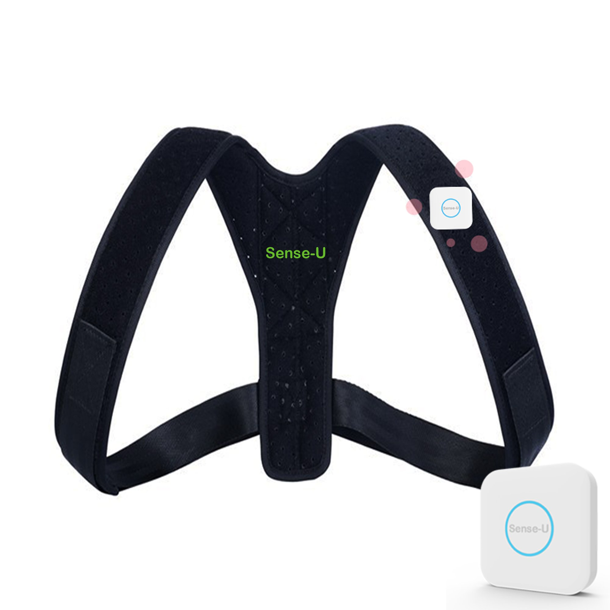 Sense-U SMART Posture Corrector Brace (26''-47'') that Vibrates when You Slouch, for Better Posture. A Posture Trainer to Improve Posture, Reduce Back Pain for Men, Women, Adults, Kids