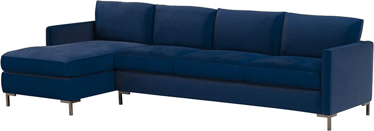 Rivet Edgewest Low Back Modern Left Sofa Chaise Sectional, 115\