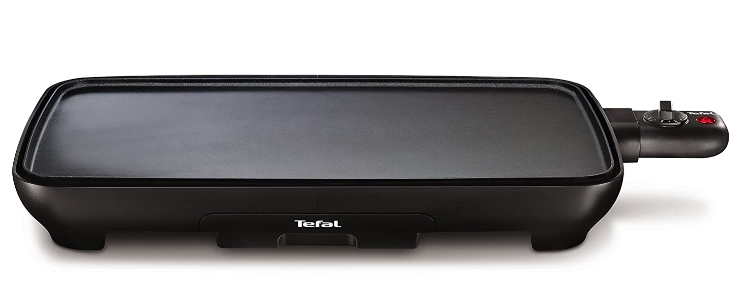 Tefal CB501812 Grill Tabletop Electric 2000W Black barbecue - Barbecues & Grills (2000 W, Grill, Electric, 1300 cm², Tabletop, Griddle)