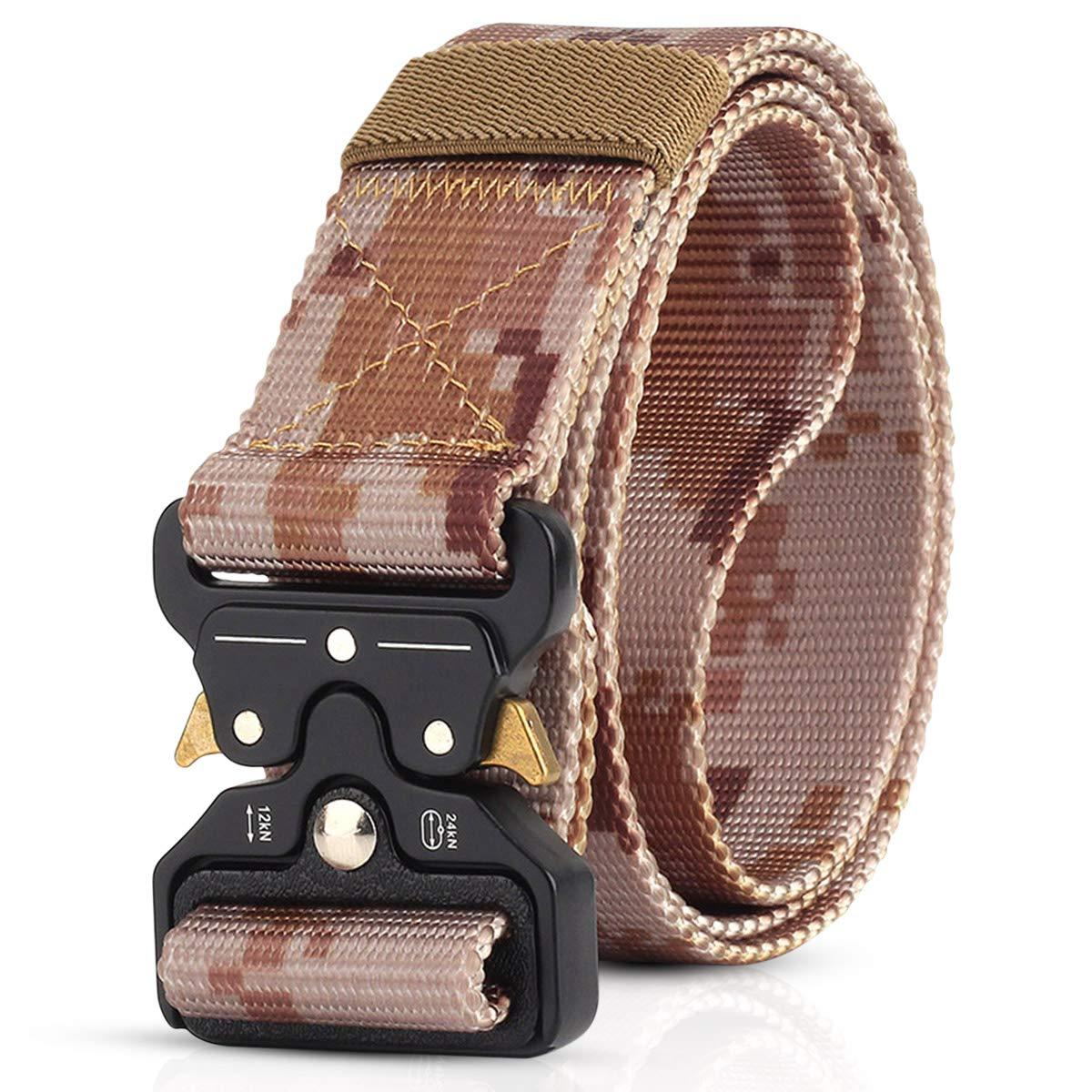 DORRISO Hombre Cinturón Táctico Militar Men Tactical Cinturón Liberación Rápida Cinturón de cintura, Cinturón de nylon
