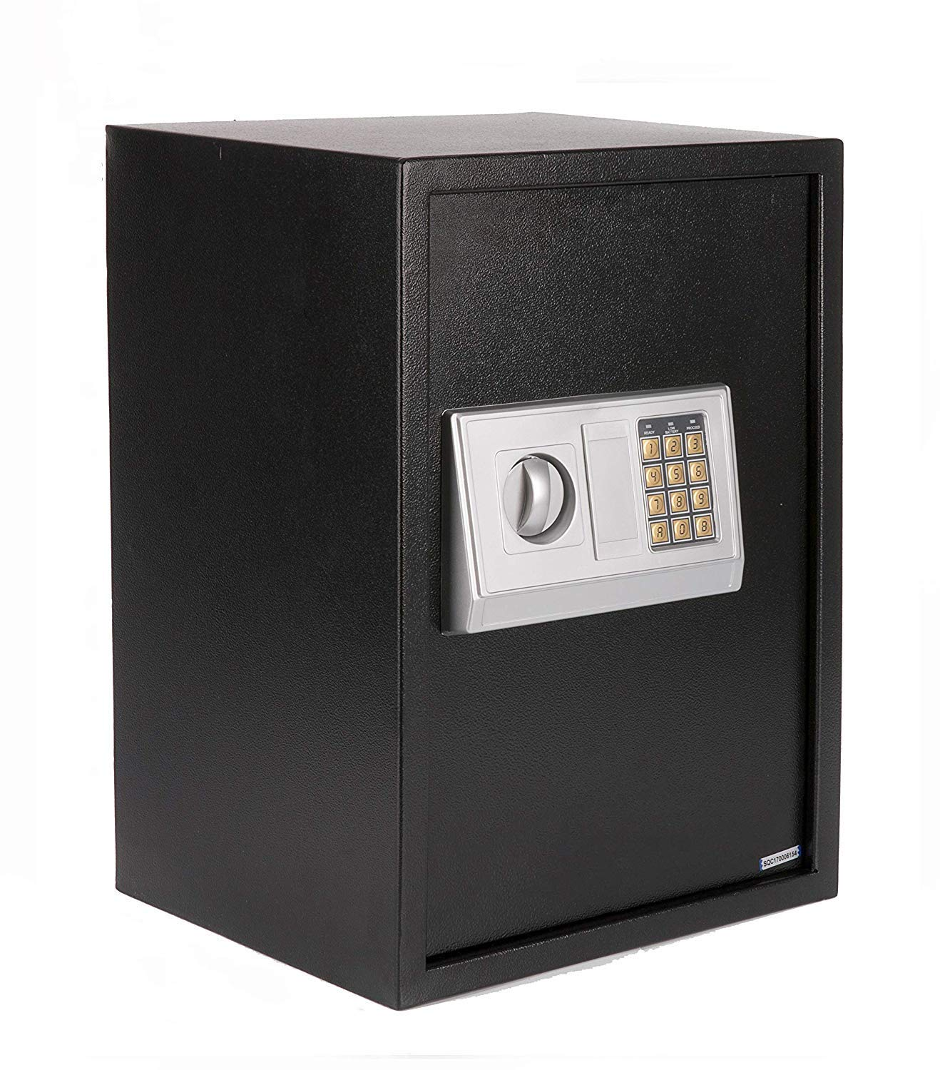 Windaze Large Electronic Digital Wall Safe Security Box Keypad Lock for Gun Cash Jewelry Valuable Storage, Silver Panel