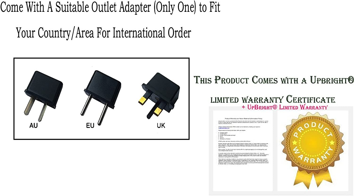 UpBright 5V AC//DC Adapter Compatible with Cisco UC Phone CP-8831 8831-MIC-WRLS CP-MIC-WRLS-S-US CP-8831-MIC-WRLS-S-US IP Wireless Microphone Kit CP-MIC-Charger-S HGPOWER ADPV622 5VDC 1A Power Charger