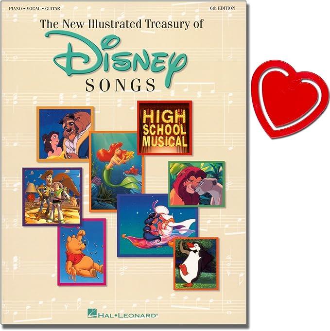 The Illustrated Treasures sury of Disney Songs – Cuento Mundo de Disney – Songbook [voz, piano, guitarra] con herzförmiger Ordenador Pinza: Amazon.es: Instrumentos musicales