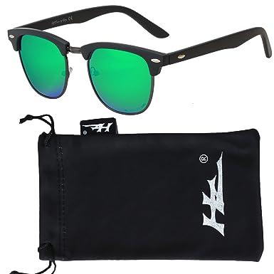 HZ Series StratMaster – Lunettes de soleil polarisées Premium en polycarbonate de haute qualité de Hornz – Cadre minuit noir – Lentille verte classique 9zh6fcjtVH