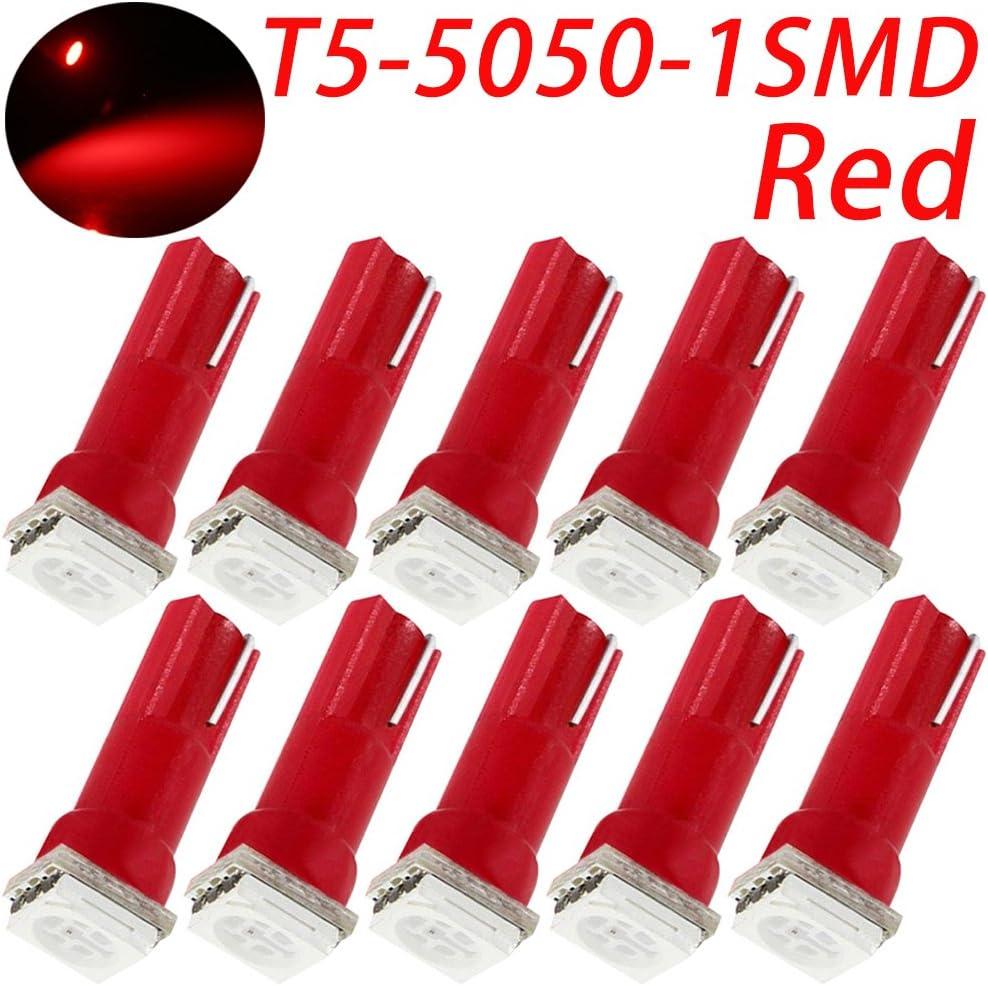 /5050-SMD LED del panel de instrumentos Luz Gauge Cluster Dashboard l/ámpara LED bombillas blanco TABEN T5/LED Bombilla 37/73/74/79/17/57/1/ Pack de 2