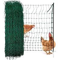 Agrarzone pluimvee net, pluimvee omheining zonder elektriciteit groen 25m x 106cm   Kip hek met dubbele spikes & palen…