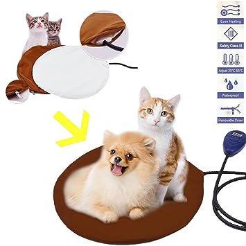 JOYOOO 12W Cojín de Calefacción para Mascotas,Mascotas en Invierno Manta Eléctrica para Perros y Gatos, 7 Niveles de Temperatura Ajustable con Termostato ...