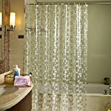 Fome - Tenda da doccia effetto acqua 3D, con trattamento antimuffa, in 100% tessuto plastificato EVA, con ganci in plastica Crystal Mosaic