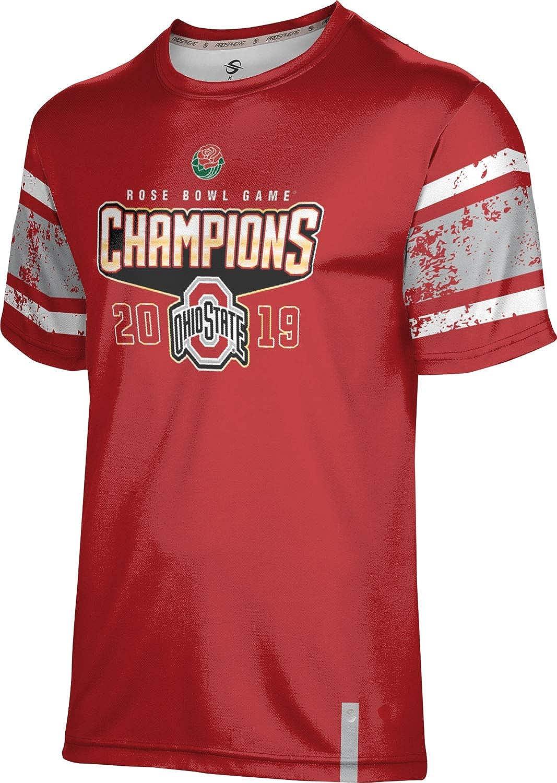 Ohio State University Boys Performance T-Shirt Rose Bowl Champions 2019 End Zone