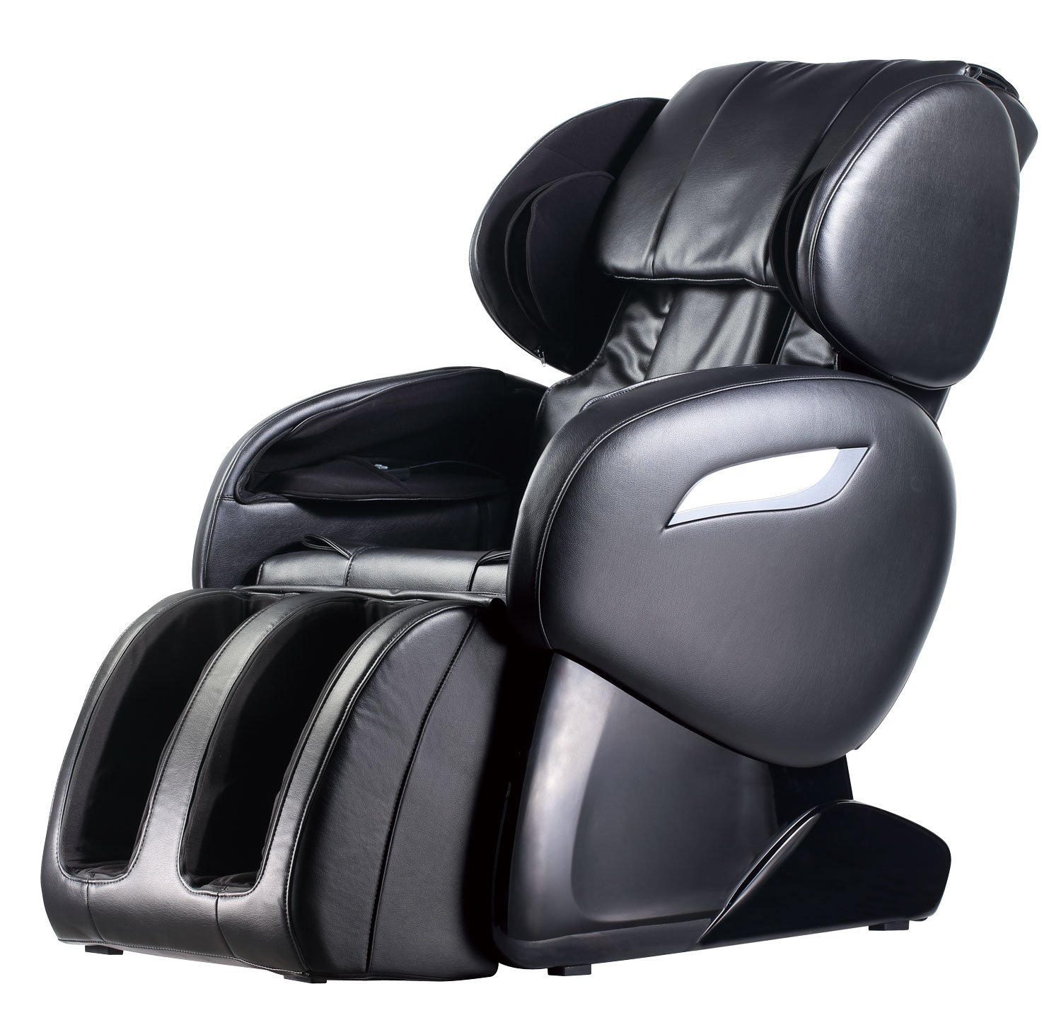 Zero Gravity Full Body Electric Shiatsu UL Approved Massage Chair Recliner with Built-in Heat Therapy and Foot Roller Air Massage System Stretch Vibrating for Home Office,Black