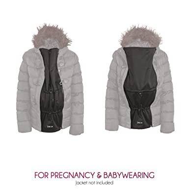 6c1689b256604 Zip Us In Award Wining Jacket Expander Panel - Extend The Coat You Already  Love and Turn it Into a Maternity Or Babywearing Jacket  Amazon.co.uk   Clothing