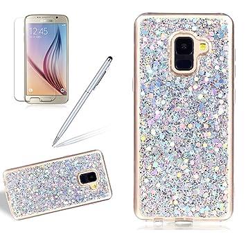 buy online 5aeeb 3620c Glitter Case for Samsung Galaxy A8 2018,Girlyard Crystal Luxury Bling  Shinning Design Soft TPU Ultra-thin Flexible Rubber Anti-slip Scratch  Resistant ...