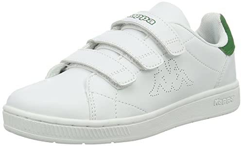 Kappa Court Velcro, Zapatillas Unisex Adulto, Blanco (1030 White/Green), 46 EU