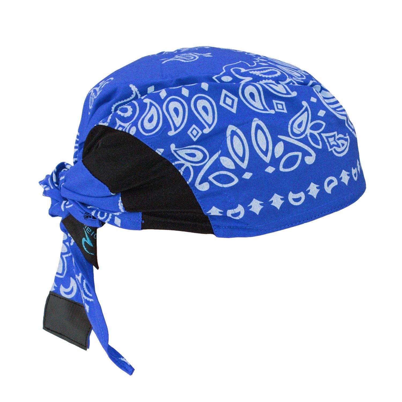 Radians RCS308 Arctic Skull Cooling Headshade, Blue Paisley