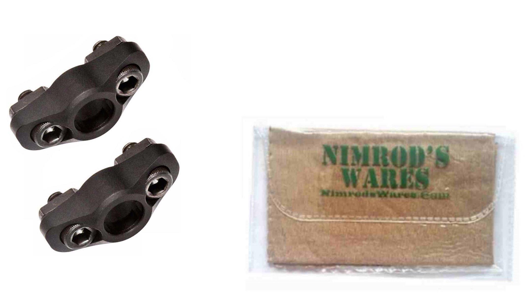 Nimrod's Wares 2-Pack MAGPUL M-LOK Quick Detach (QD) Sling Mounts MAG606 Microfiber Cloth