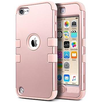 ULAK iPod Touch 5 and iPod Touch 6 Carcasa, iPod Touch 6 Funda Case híbrida de 3 Capas de Silicona Antigolpes con Tapa para iPod Touch 5 generación ...