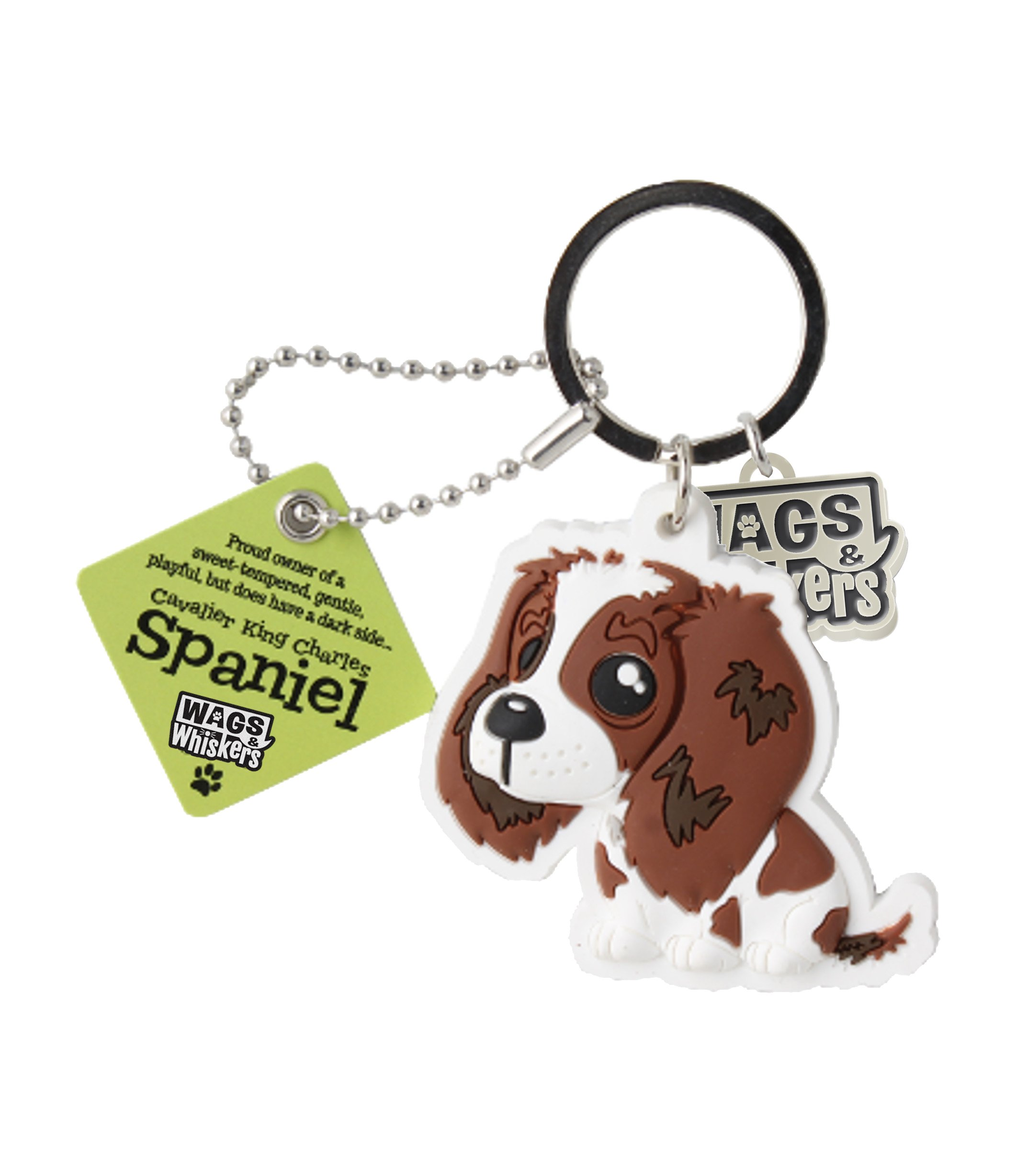Wags and Whiskers Cavalier King Charles Spaniel Key Chain, 4 x 2, (Model: 886767110493)
